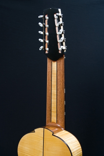 Ten string guitar neck, laminated with Honduran Mahogany, Ebony and Maple.jpg