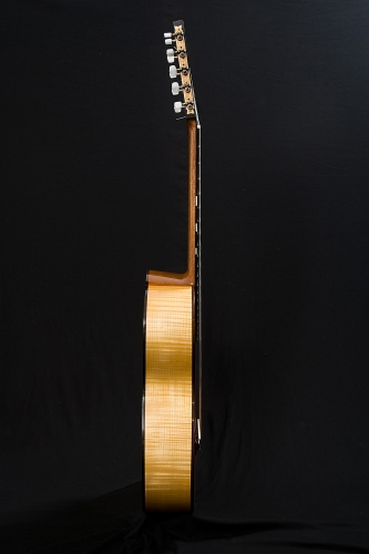 Laudarra guitar, flamed Maple sides, neck.jpg