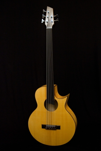 5 string acoustic bass. Italian Spruce and Pioppo marezzato. Rodolfo Cucculelli, luthier.JPG