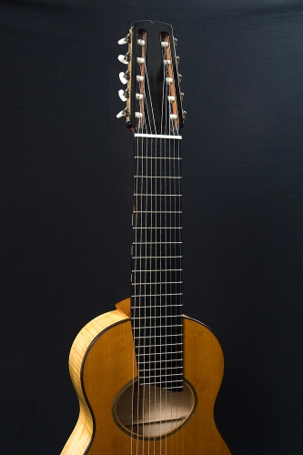 Decacorde guitar, Ebony fretboard, 21 nickel frets.jpg