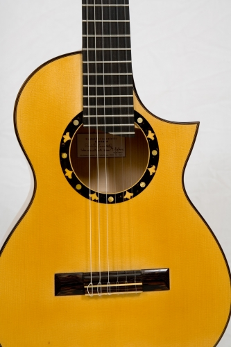 Custom Requinto guitar, Italian Spruce top, hand-made rosette, wenge bridge, graphyte saddle..jpg