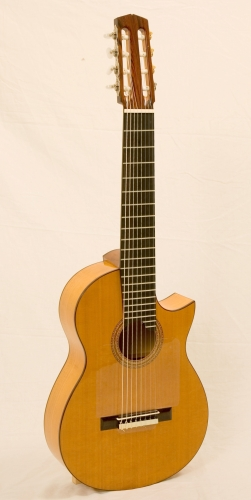 8string classical guitar, scale length 650 mm., Rodolfo Cucculelli ERG guitar maker.JPG