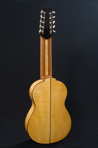 Extended-range classical guitar, scale length 650 mm., Thuja plicata and European Maple.jpg